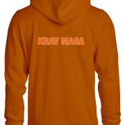 Krav Maga Hoodie OranjeAchterkant